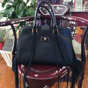Bebe Side Fringe Satchel Bag
